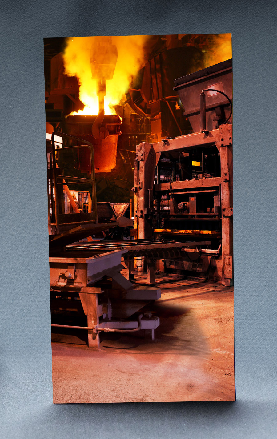 Steel Mill 1:6 Scale Striking Backdrop