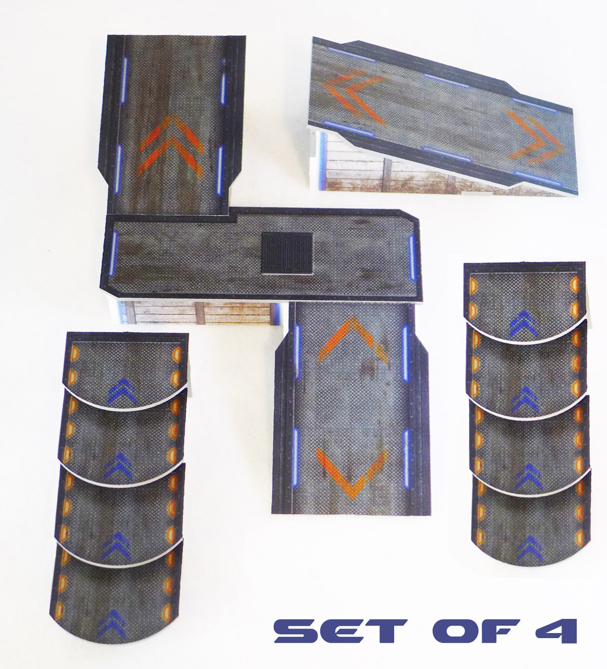 Sci-Fi Ramps and Stairs Set of 4