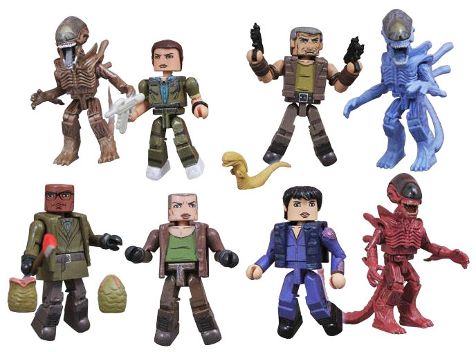 Alien Minimates Series 4 Full Set of 8