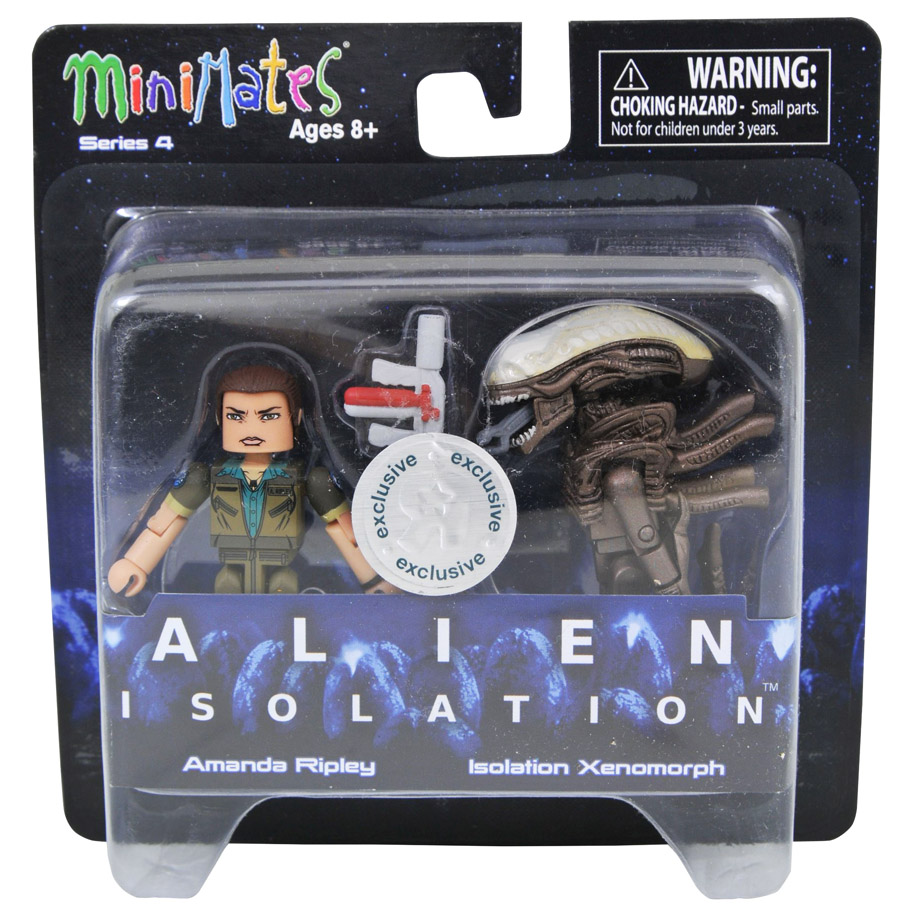 Amanda Ripley & Isolation Xenomorph Alien Isolation Minimates