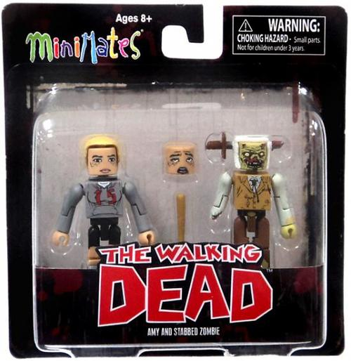Amy & Stabbed Zombie Walking Dead Minimates Variant Set