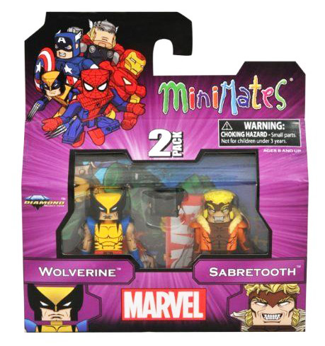 Best of Marvel Minimates: Wolverine & Sabretooth