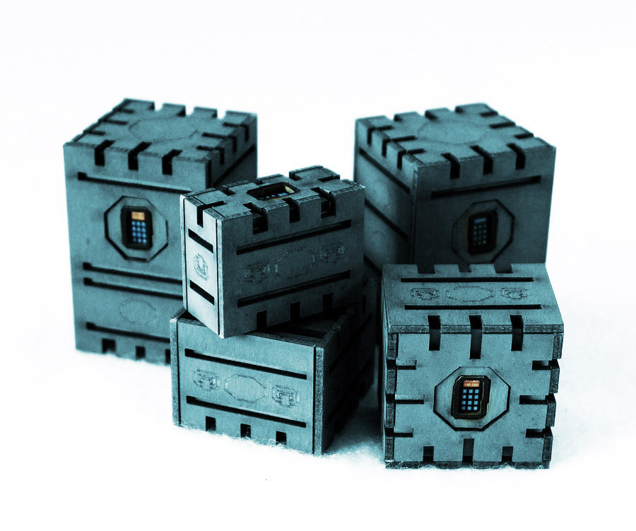 Security Crates Set of 5 (Blue)