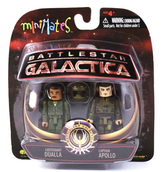 Lt. Dualla & Captain Apollo BSG Minimates