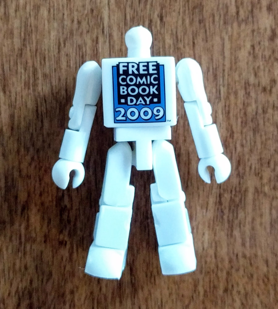 Free Comic Book Day Partial White Blank Minimate