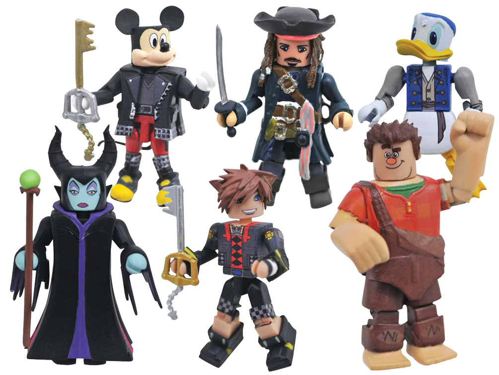 Kingdom Hearts Minimates Series 3 Full Set of 6