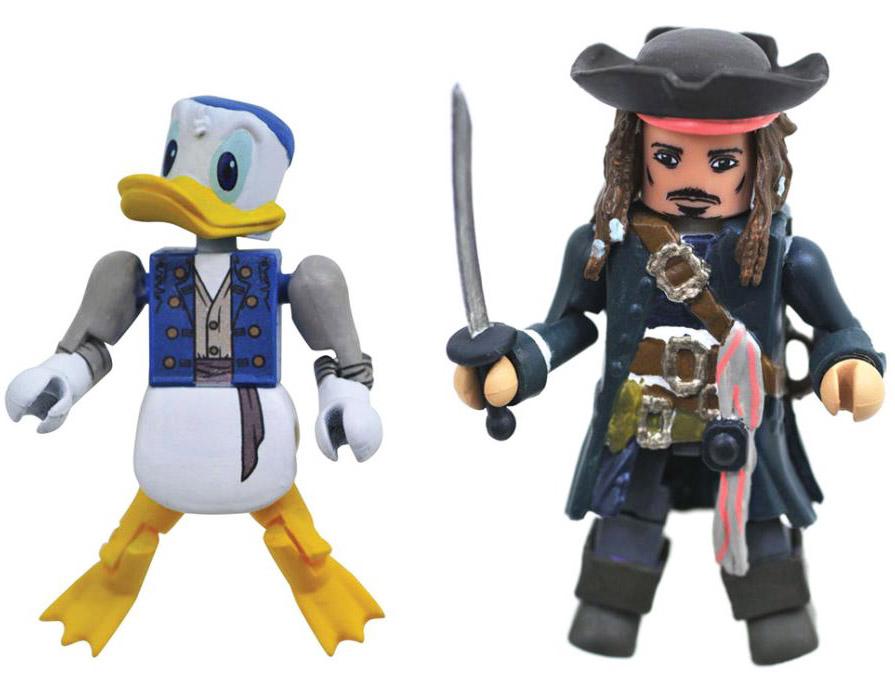 Captain Jack Sparrow & Pirate Donald Kingdom Hearts Minimates