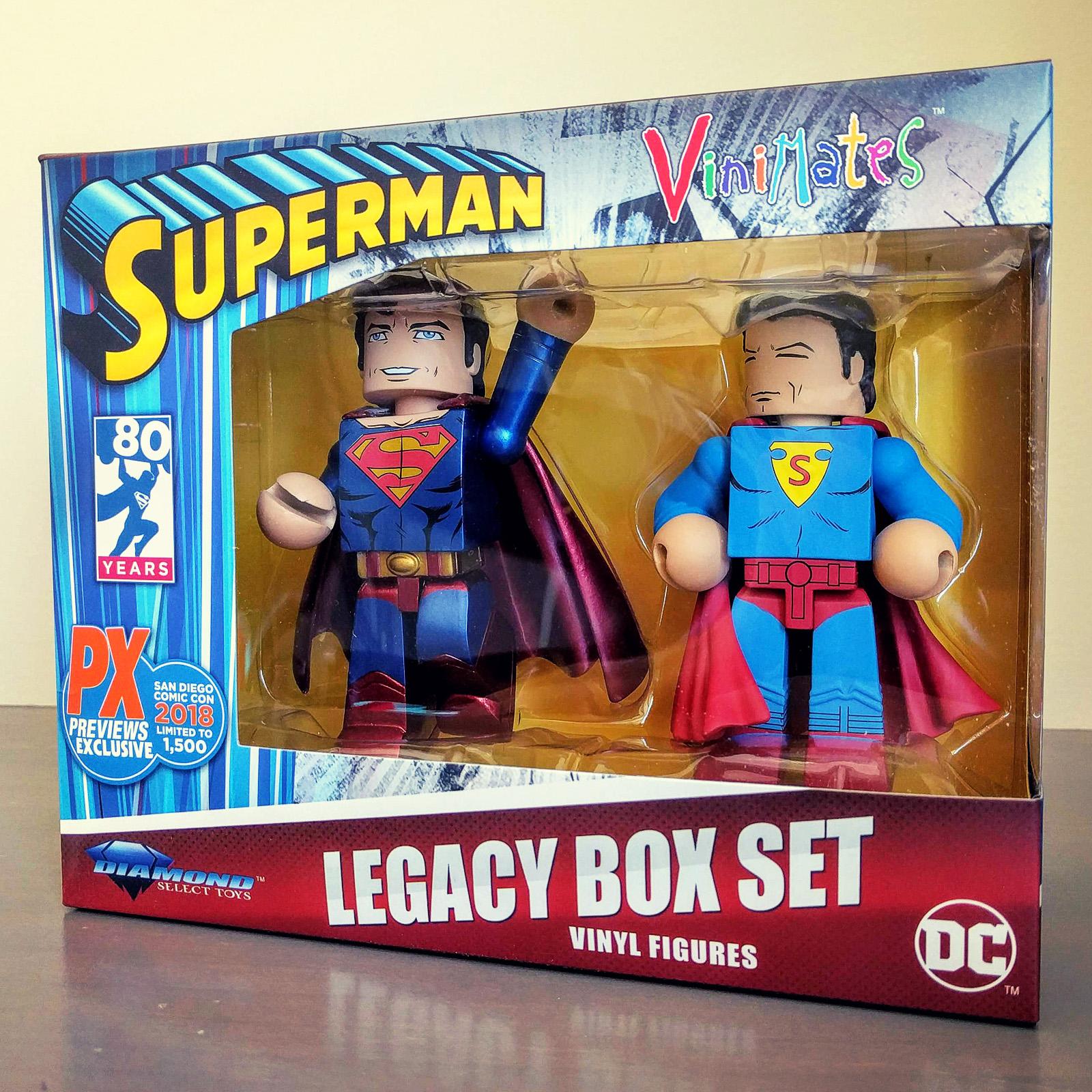SDCC Exclusive Superman Legacy DC Vinimate Vinyl Figure 2-Pack Box Set