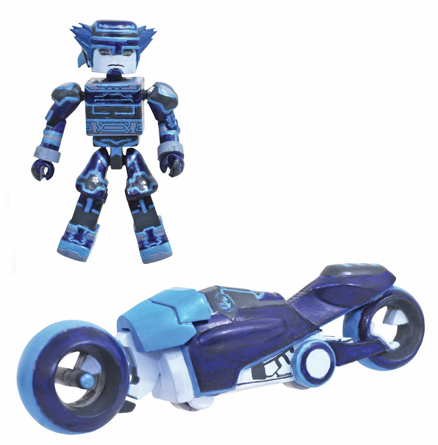 Kingdom Hearts Minimates Tron Lightcycle Light Cycle Deluxe Set