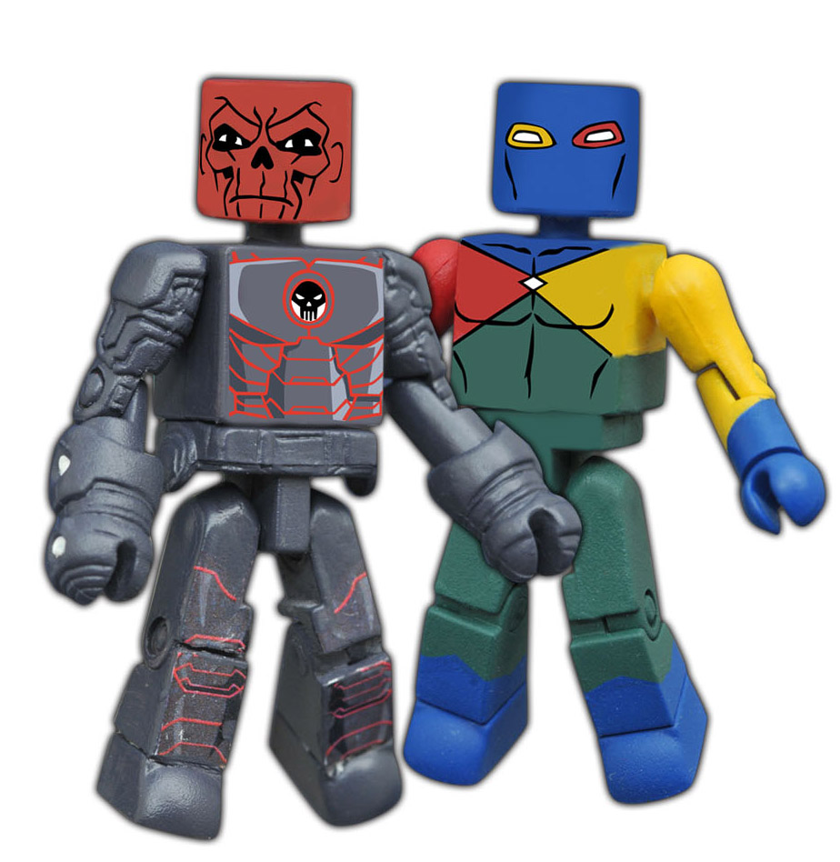 Iron Red Skull & Dr. Spectrum Walgreens Minimates