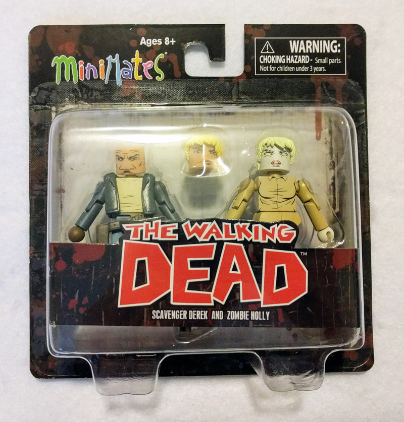 Scavenger Derek & Zombie Holly Walking Dead Minimates