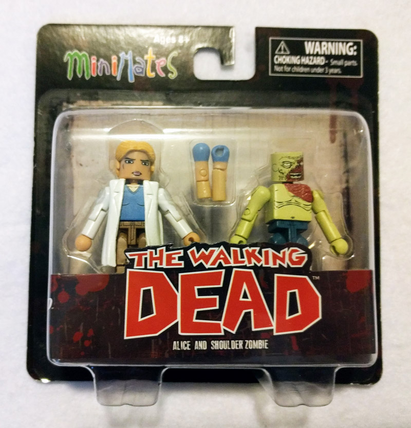 Alice & Shoulder Zombie Walking Dead Minimates