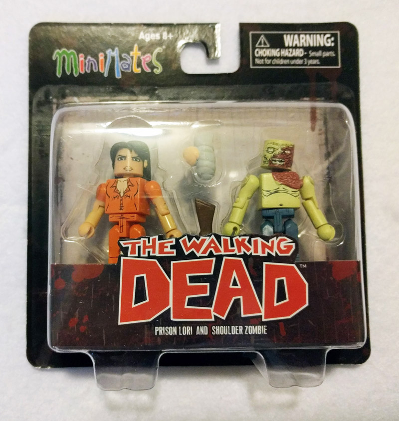 Prison Lori & Shoulder Zombie Walking Dead Minimates