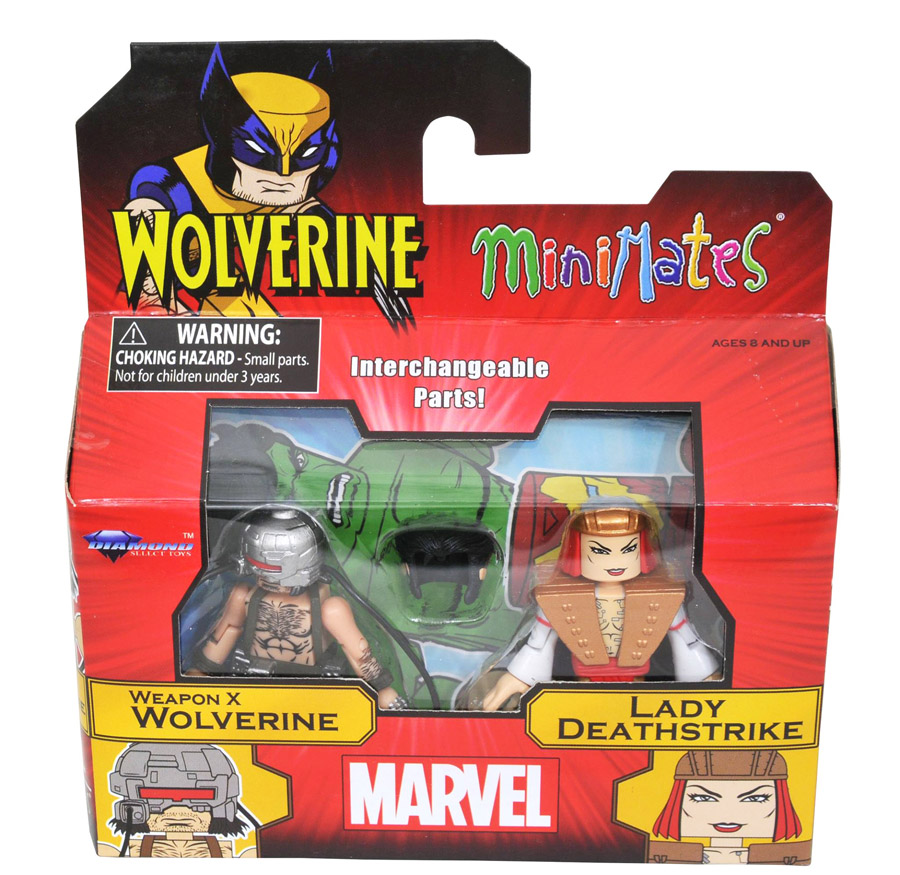 Weapon X Wolverine VS Lady Deathstrike Minimates