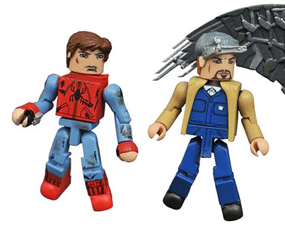 Battle-Damaged Spider-Man & The Tinkerer Minimates