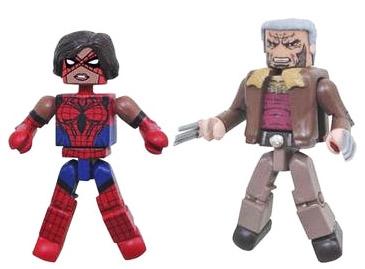 Spider-Girl (Ashley Barton) VS Old Man Logan Minimates