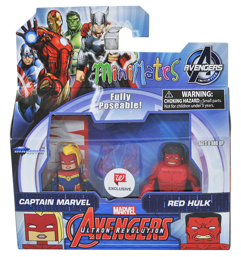 Captain Marvel & Red Hulk Walgreens Minimates