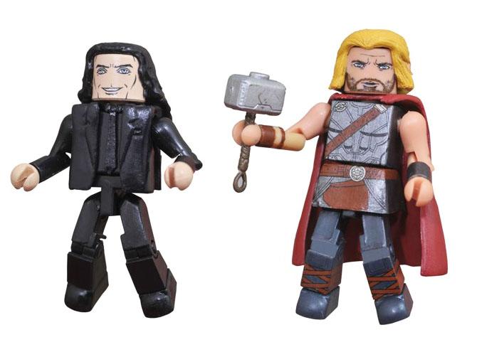 Roadworn Thor & Civilian Loki Walgreens Minimates