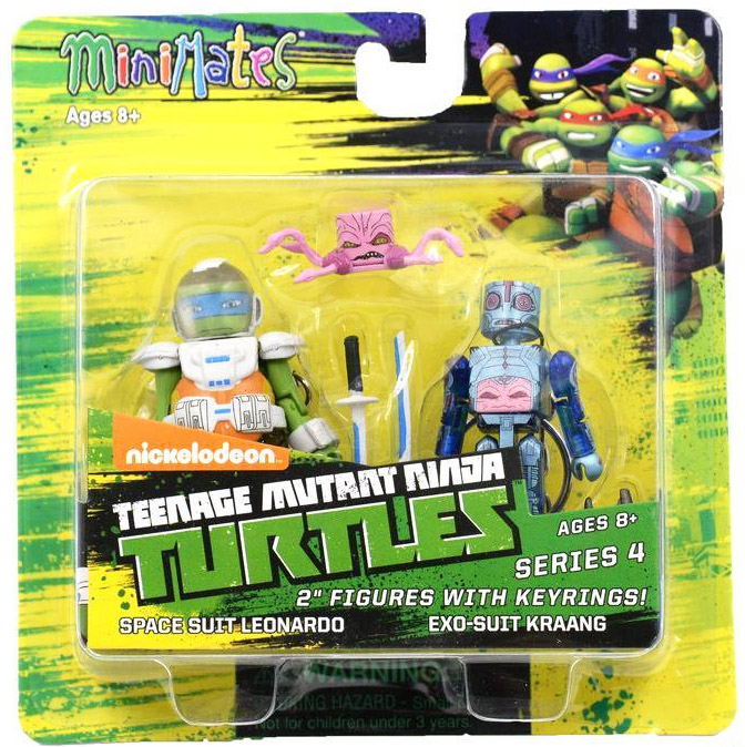 Space Suit Leonardo & Exo Suit Kraang TRU Exclusive TMNT Minimates