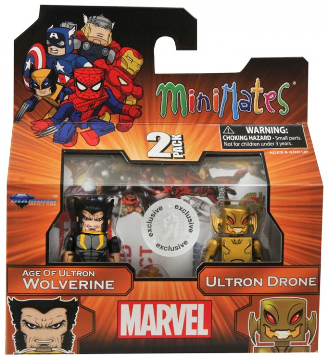 Age of Ultron Wolverine & Gold Ultron TRU Exclusive Minimates