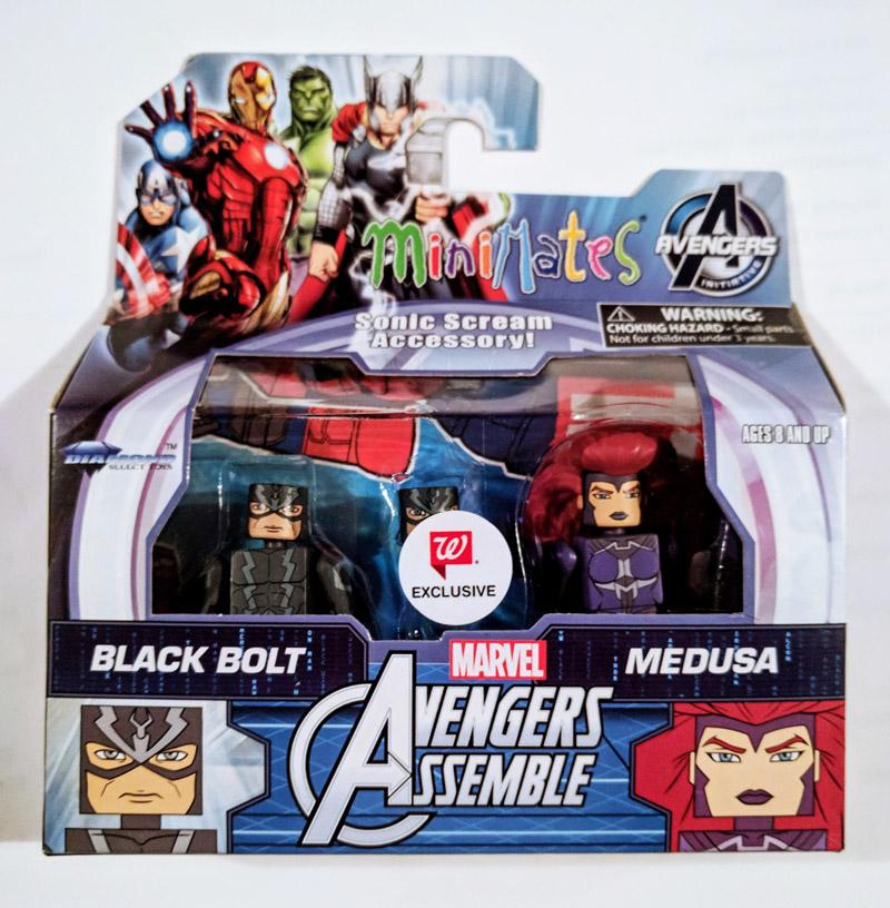 Black Bolt & Medusa Walgreens Minimates