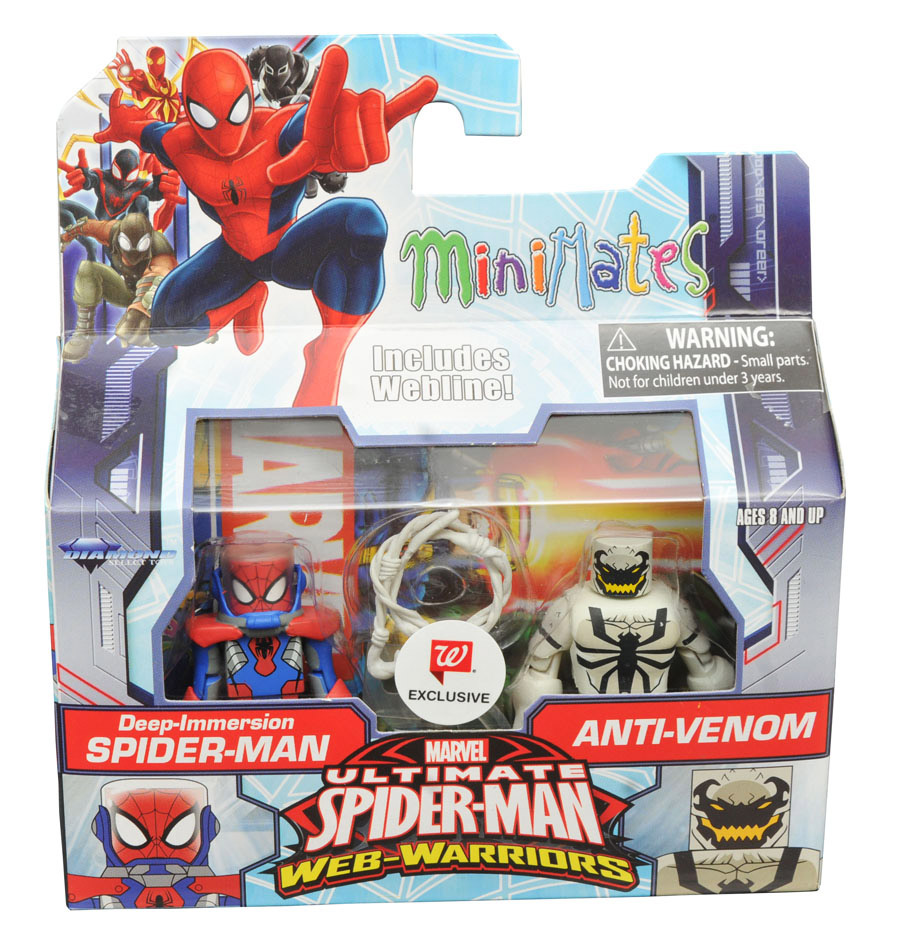 Deep Immersion Spider-Man & Anti-Venom Walgreen's Exclusive Marvel Minimates