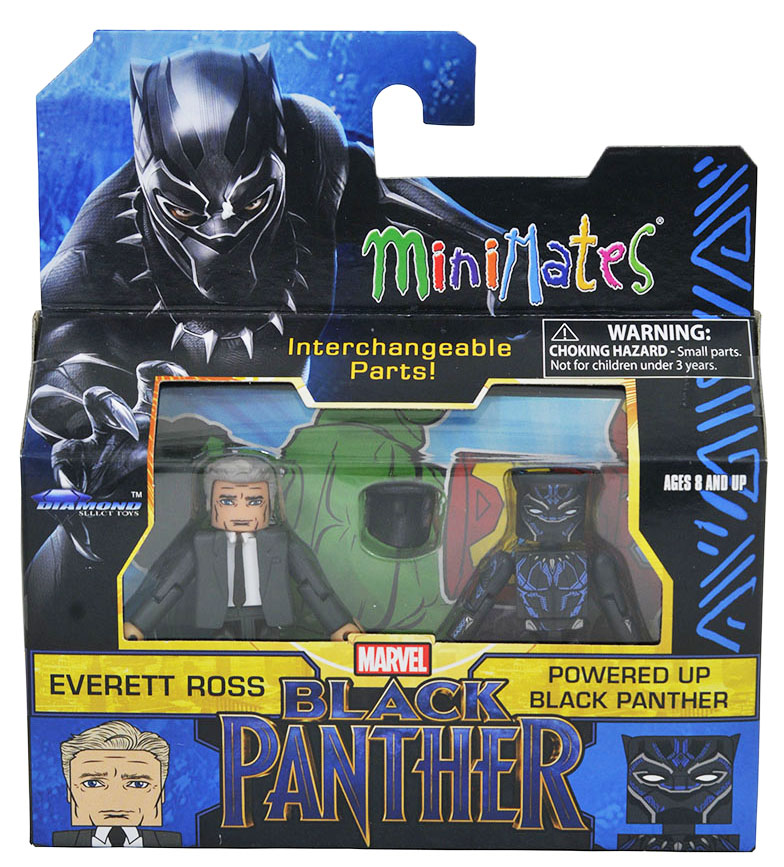Powered Up Black Panther & Everett Ross Walgreens Minimates
