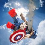 Captain America Minimate comic