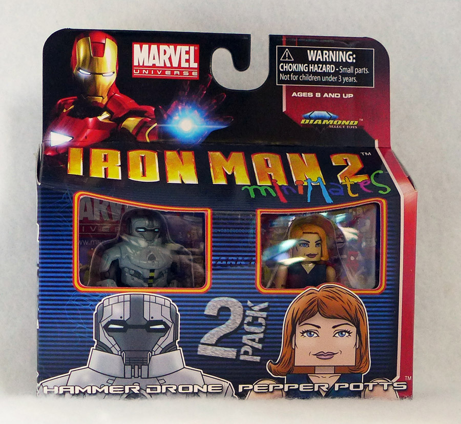 Iron Man 2 Hammer Drone & Pepper Potts Minimates