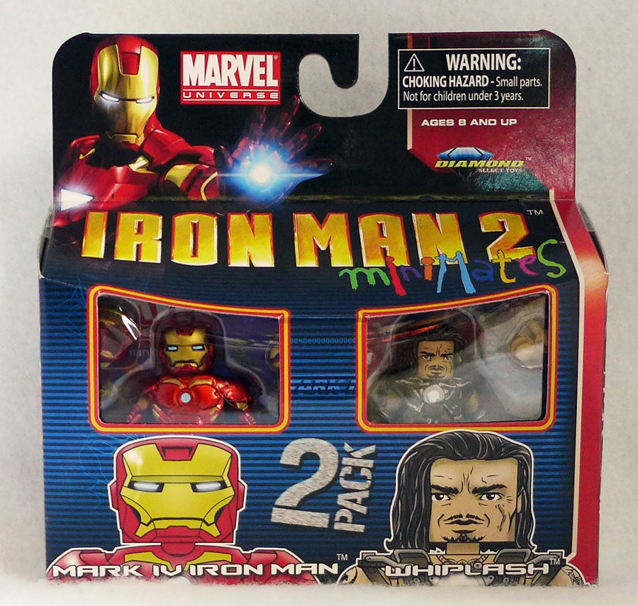 Iron Man 2 Mk IV Iron Man & Whiplash Minimates