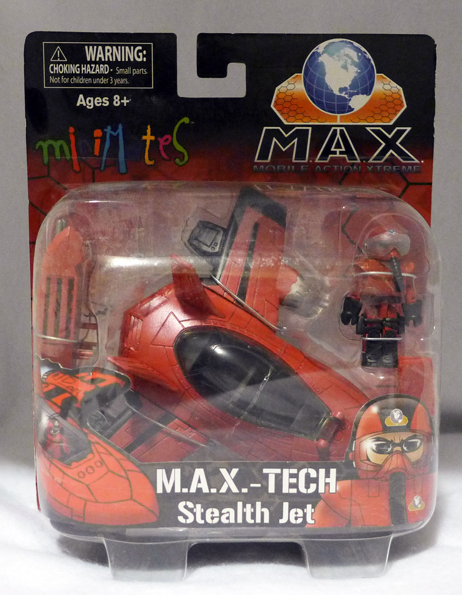 MAX Tech Stealth Jet (red) & Pilot Minimate