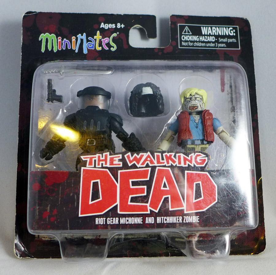 Riot Gear Michonne & Hitchhiker Zombie Minimates