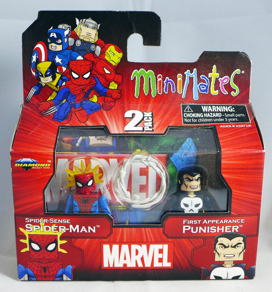 Spider Sense Spider-Man & 1st Appearance Punisher Minimates
