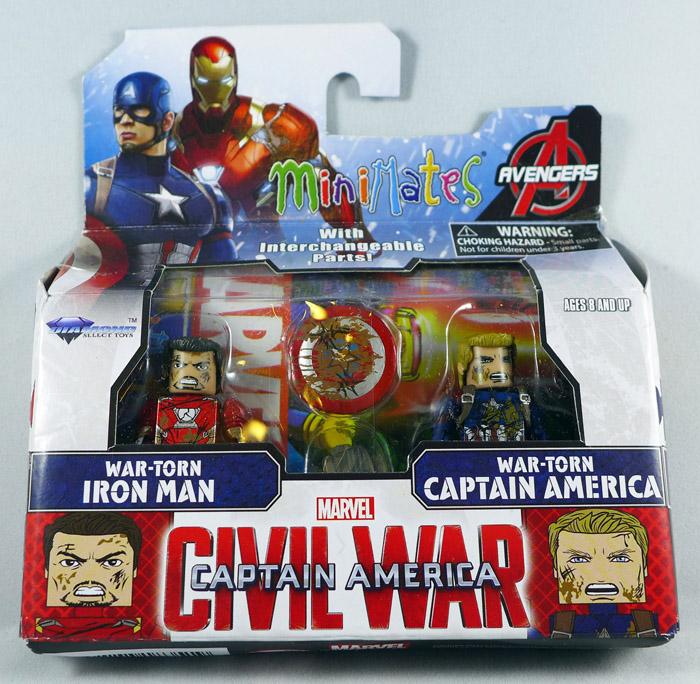 War Torn Iron Man & Captain America Minimates