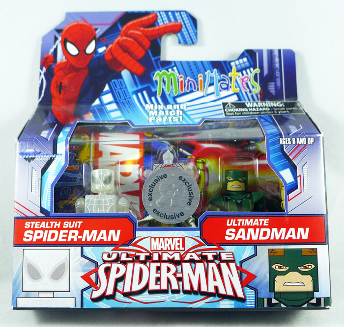 Stealth Spider-Man & Ultimate Sandman Minimates