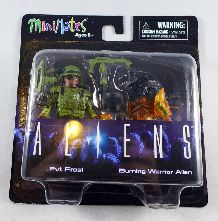 Pvt. Frost & Burning Alien Minimates