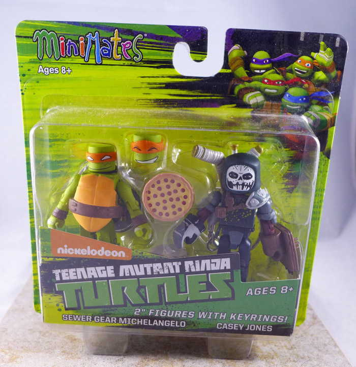 Sewer Gear Michelangelo & Casey Jones Minimates (Teenage Mutant Ninja Turtles TRU Series 2)