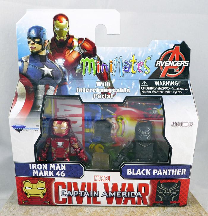 Iron Man Mark 46 & Black Panther Minimates (Wave 66)