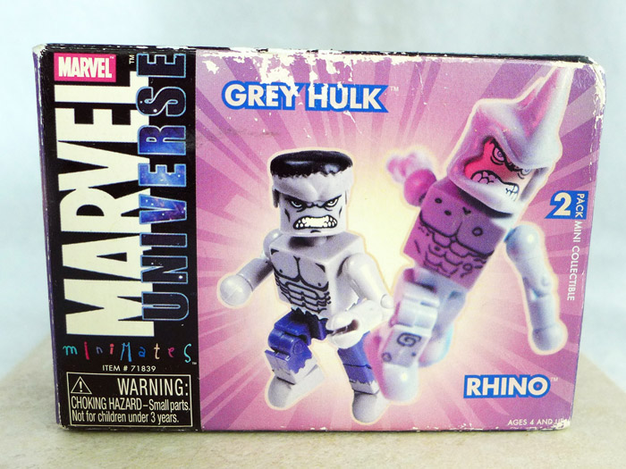 Gray Hulk & Rhino Minimates