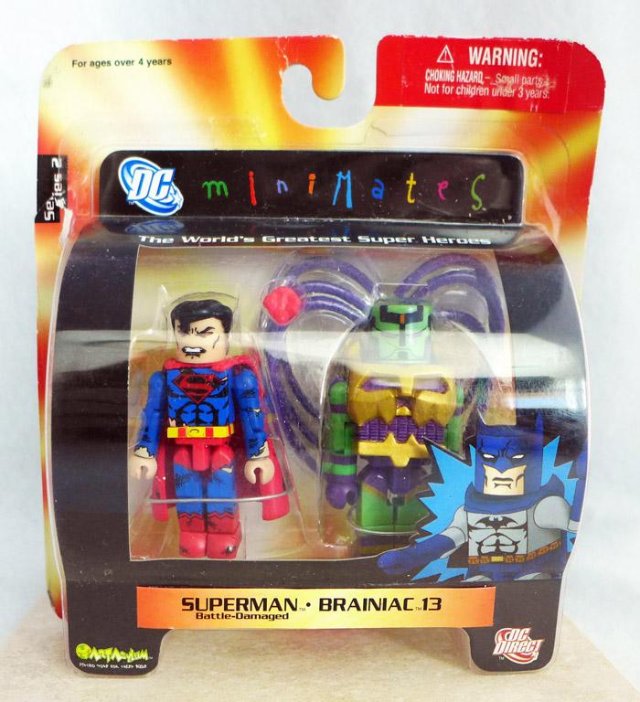 Battle Damaged Superman & Brainiac Minimates