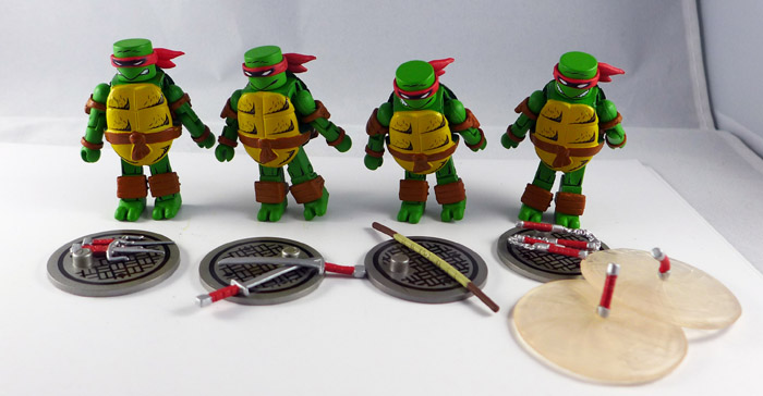 Mirage Comics TMNT Loose Minimate Set