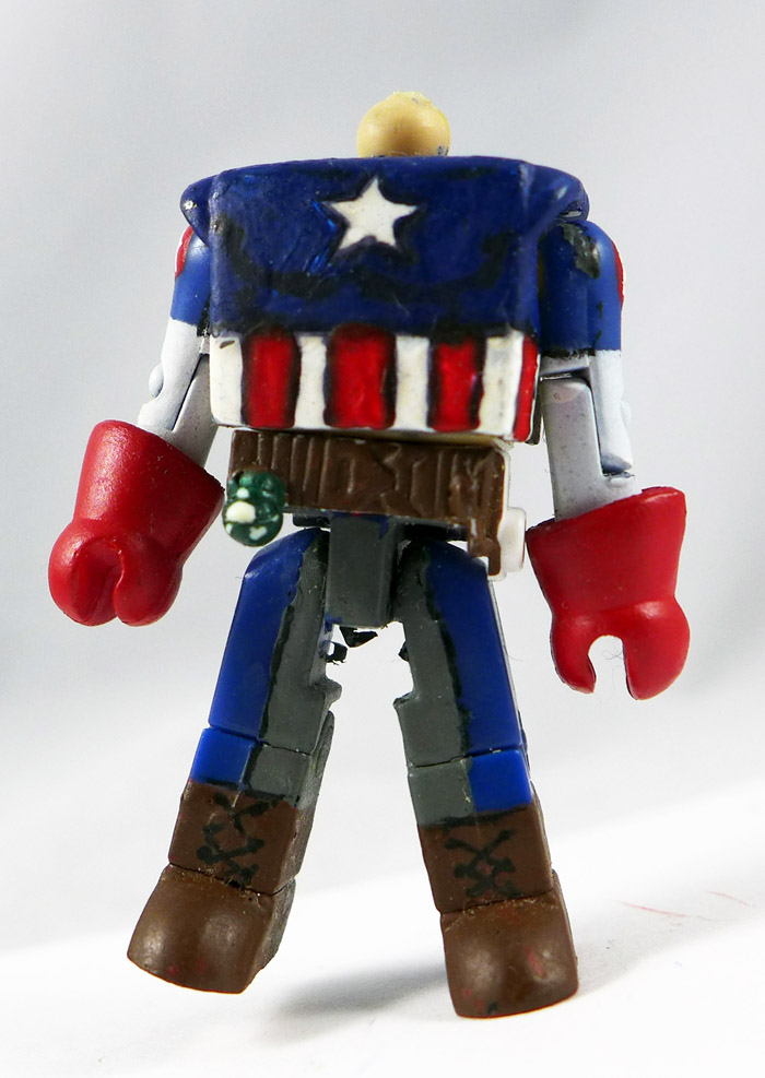 Custom Painted Captain America Partial Minimate