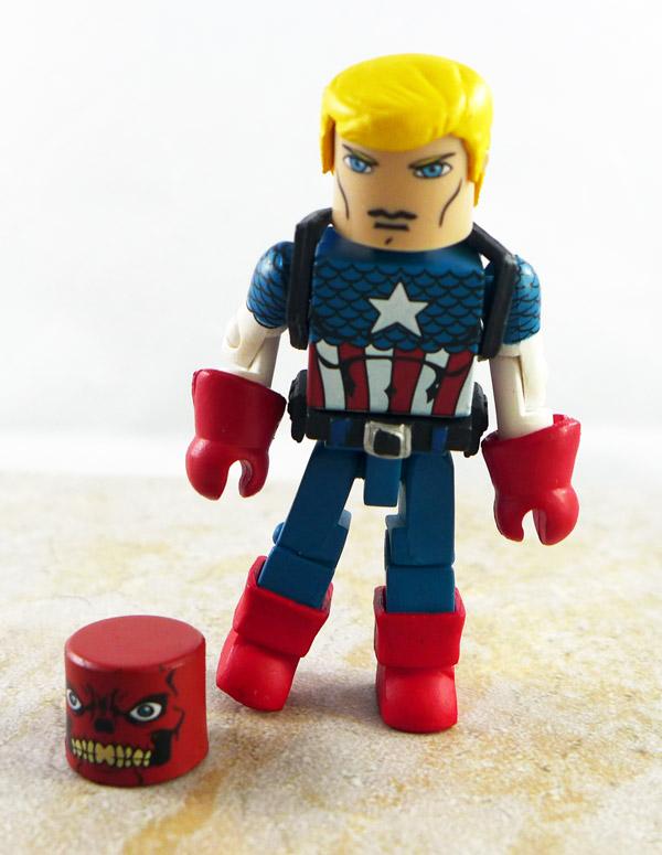 Steve Rogers with Red Skull Head Loose Minimate