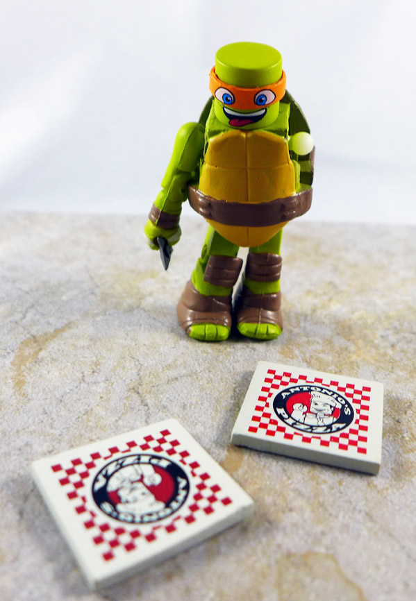 Pizza Party Michelangelo Partial Loose Minimate (TMNT Blind Series 4)