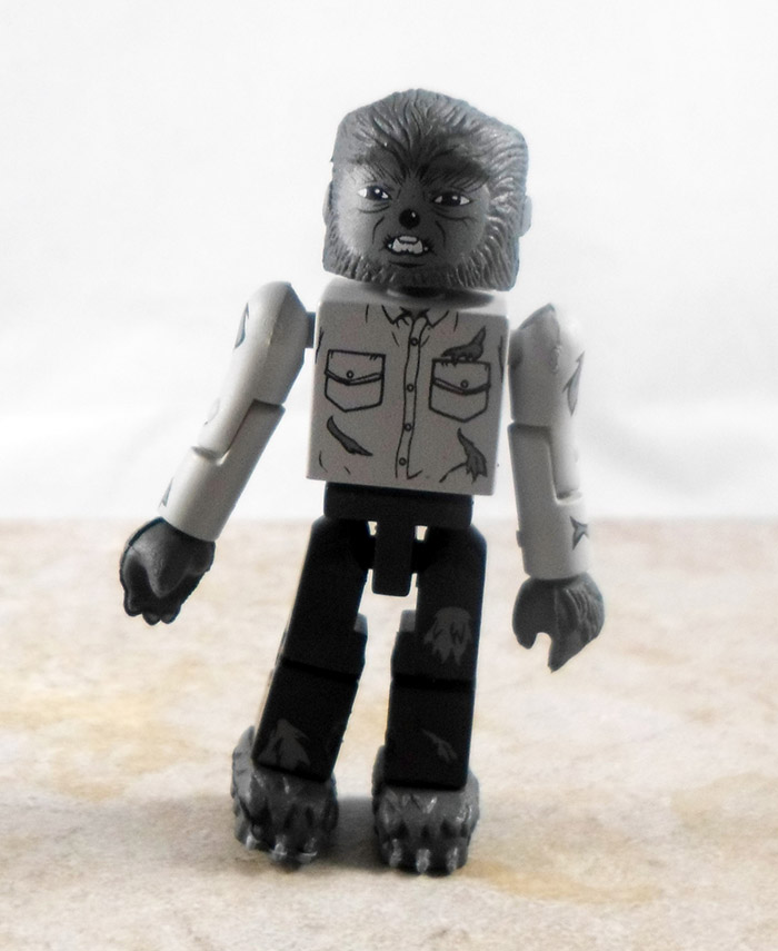 Black And White The Wolf Man Partial Loose Minimate (Universal Monsters TRU Wave 1)