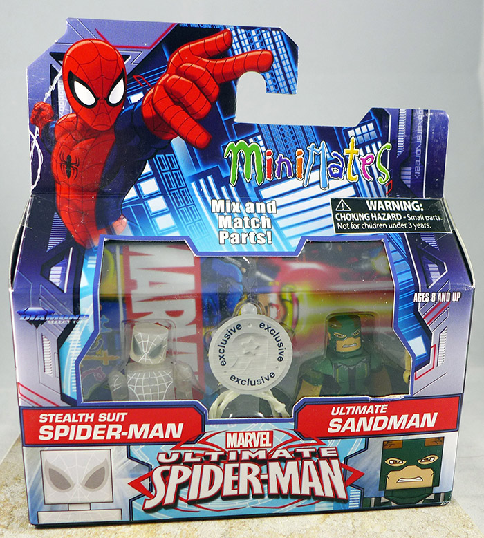Stealth Suit Spider-Man & Ultimate Sandman (TRU Wave 20)