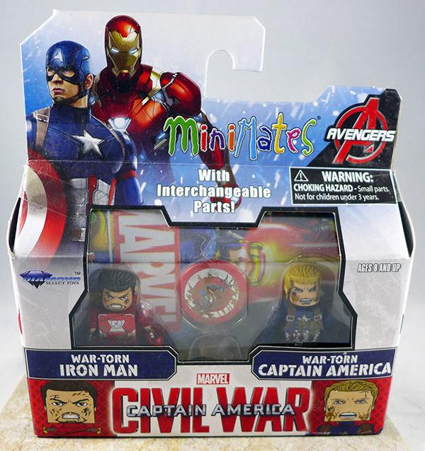 War-Torn Iron Man & War-Torn Captain America (Wave 67)