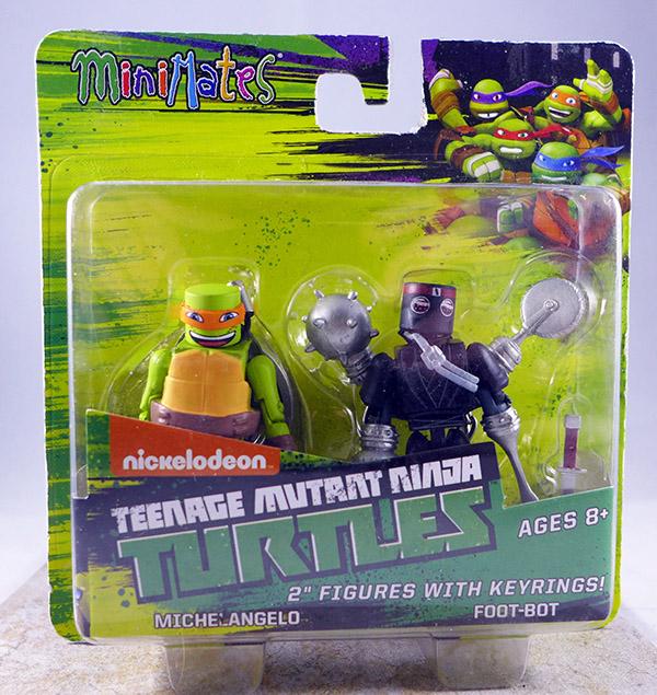 Michelangelo & Foot-Bot (TMNT TRU Series 1)