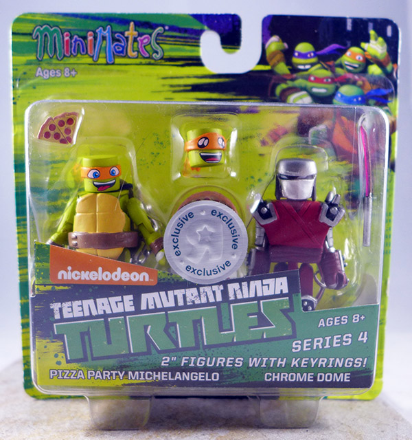 Pizza Party Michelangelo & Chromedome (TMNT TRU Series 4)