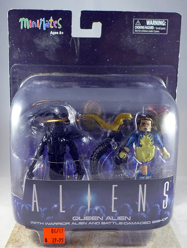 Queen Alien with Warrior Alien & Battle-Damaged Bishop (Aliens Deluxe Set)